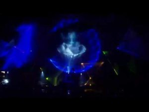 Holographic projection on water wall