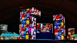 3D video mapping presentation