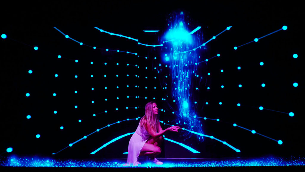 Hologram stage interaction