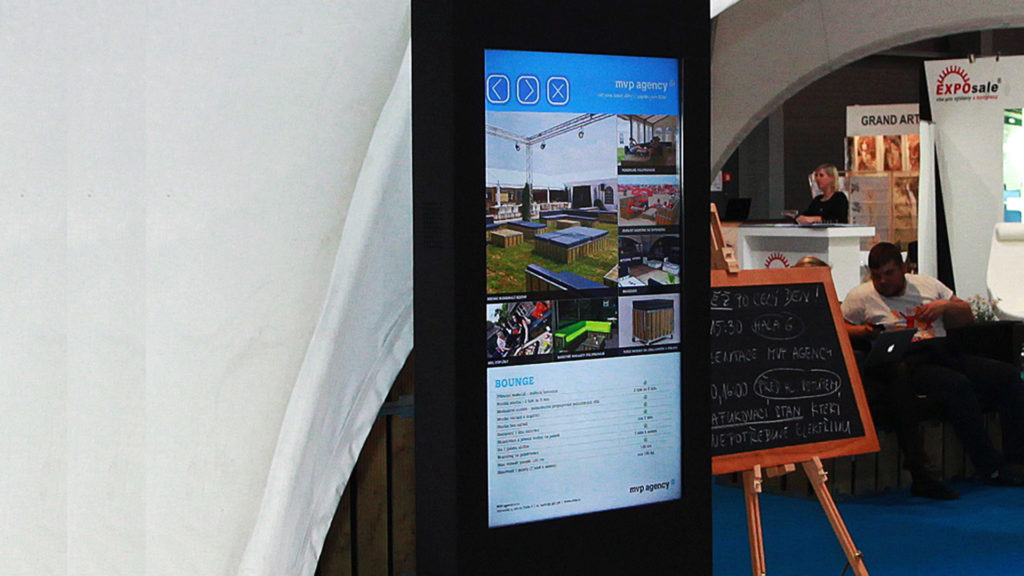 Interactive touch panel for exhibitions