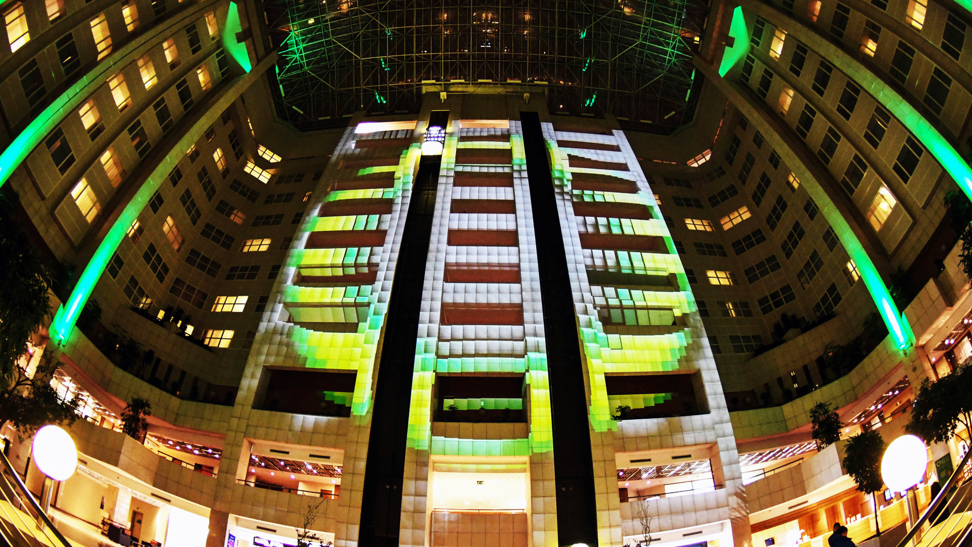 Large hotel video mapping