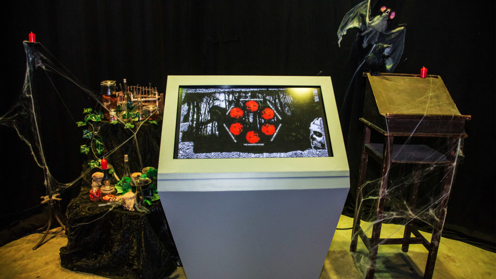 Multitouch information stand
