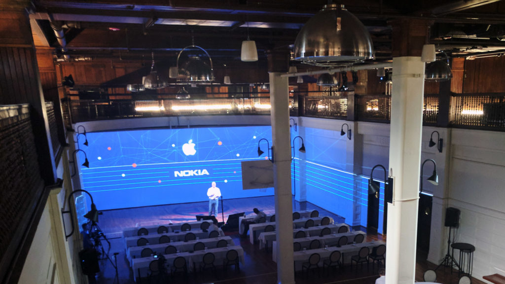 270-degree projection mapping room view