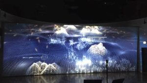 270-degree projection mapping in Chicago