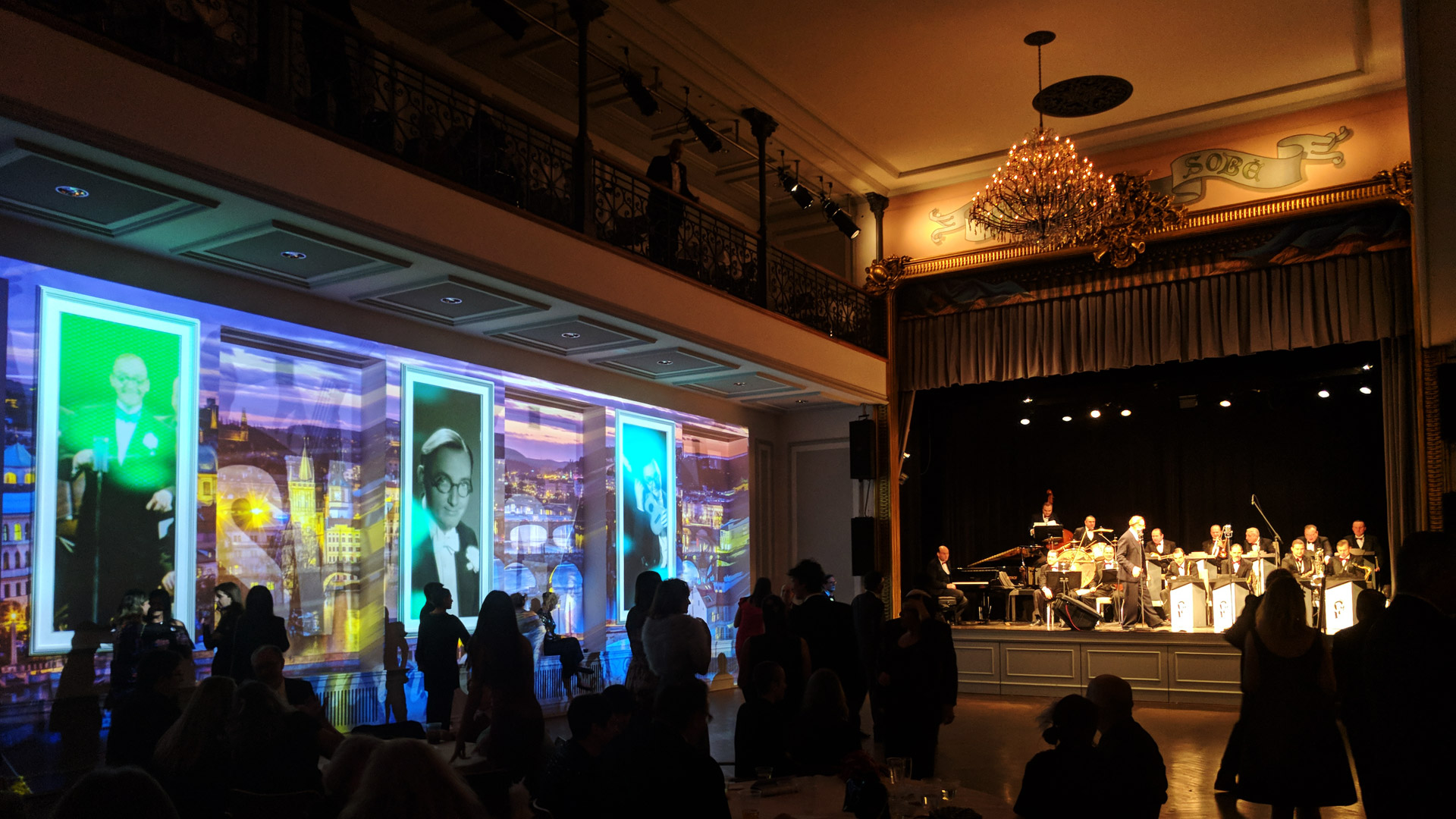 Ballroom projection mapping New York