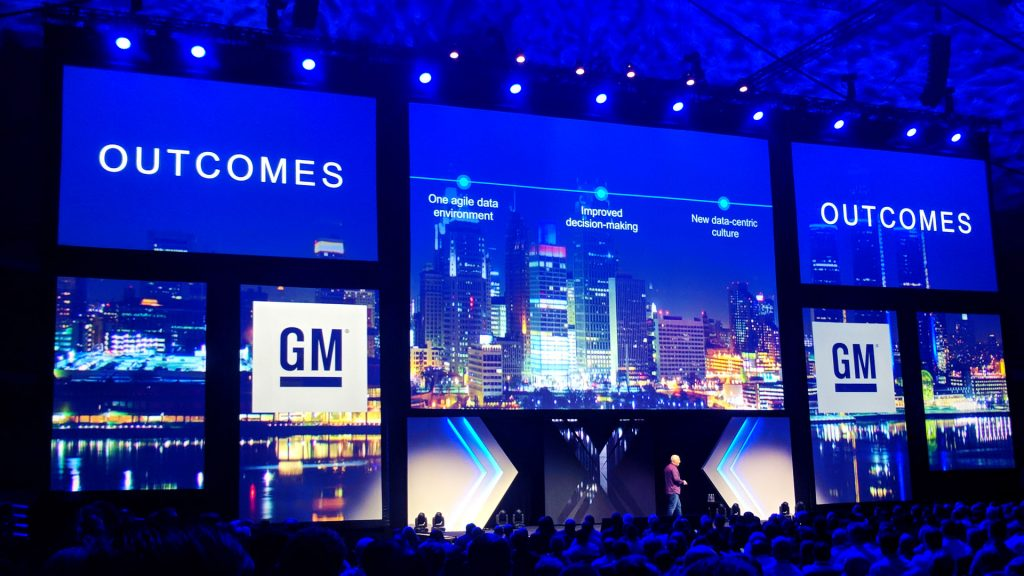 Conference presentation large projection mapping