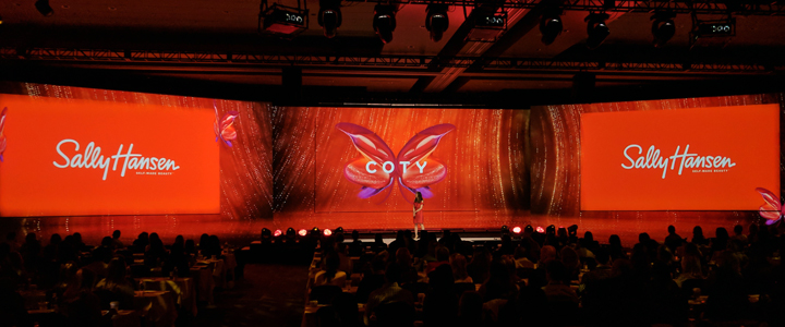 Corporate conference projection mapping in Phoenix