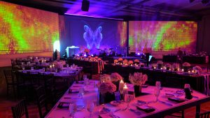 Corporate gala dinner projection mapping