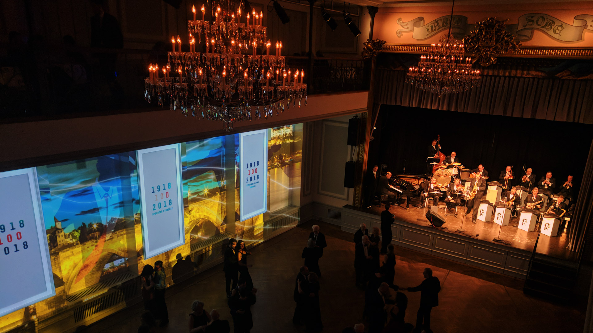 Historical ballroom projection mapping NYC