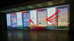 Historical wall projection mapping in New York