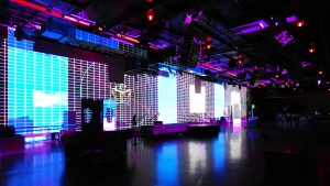 Large wall projection mapping preparation