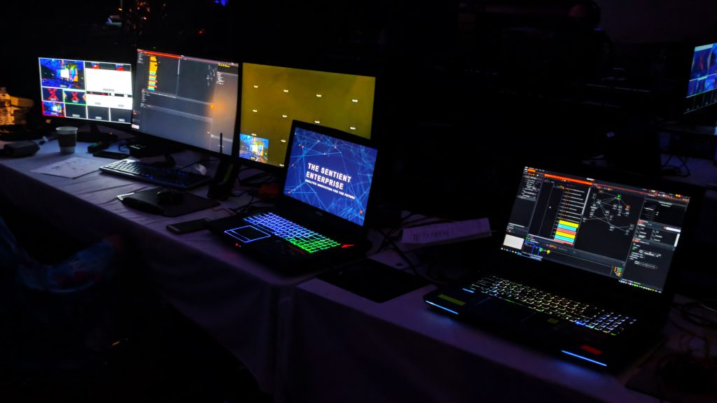 Operating projection mapping at a conference