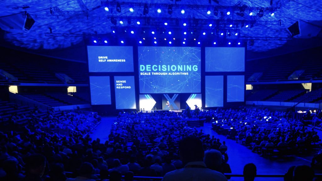 Projection mapping in convention center