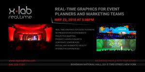 Real time graphics for event planners